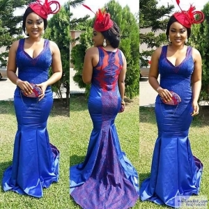 Mercy Aigbe rocks another stunning outfit to a wedding